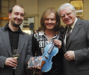 s legendárním Josefem Sukem a klavíristou Petrem Jiříkovským, foto Michal Doležal ČTK